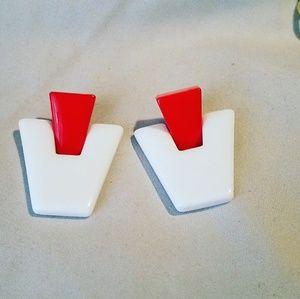80s inspired Pierced Earrings